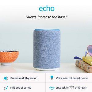 Amazon Echo Bluetooth Speaker Jaipur, Amazon Echo Bluetooth Speaker Jaipur, Amazon Echo Smart Speaker 3rd gen Jaipur, Amazon Speaker Jaipur Amazon Speaker Jaipur, Echo dot 3rd Gen Speaker Jaipur, Echo Smart Speaker Jaipur,Echo 3rd Gen Smart speaker with Alexa
