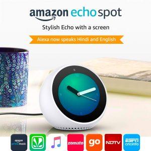 Amazon Echo Dot Dealer Jaipur, Amazon Echo Dot Distributor Jaipur, Amazon Echo Sport Portable Speaker For Sale in Jaipur, Amazon Echo Spot Jaipur, Echo Spot Alarm Clock Speaker, New Amazon Speaker Bluetooth Speaker Jaipur,Echo Spot Alarm Clock Speaker