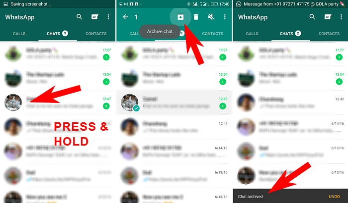 Archive-WhatsApp-conversation-to-hide-guide, password in whatsapp